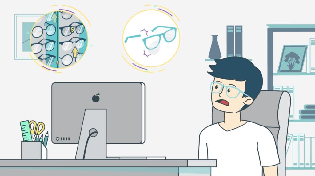 โฆษณา Motion Graphic Glazziq สั่งซื้อแว่นออนไลน์ลองได้ถึงบ้าน